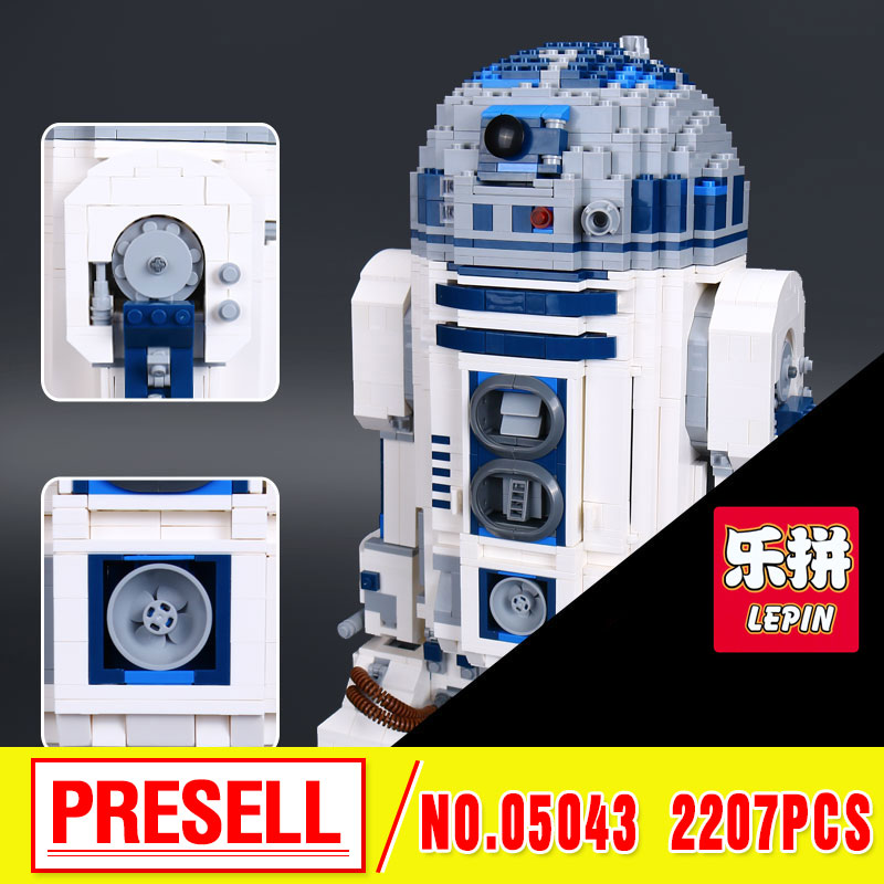 Lepin 05043 Genuine Star Series The R2 Robot Set D2 Out of print   Building Blocks Bricks  Toys 10225   wars riggs r library of souls