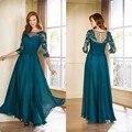 Renda Mãe Dos Vestidos de Noiva Elegantes Vestidos de Chiffon Plus Size Mãe Do Vestido de Noivo Vestido Mae da Noiva