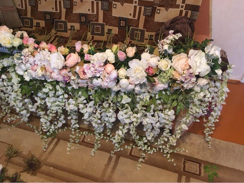 """12 шт./лот Бесплатная доставка, 5 цветов 110 см 43.3 """"Высокие искусственный цветок глицинии шелка Глициния Главная Свадебные Декоративные цветы"""