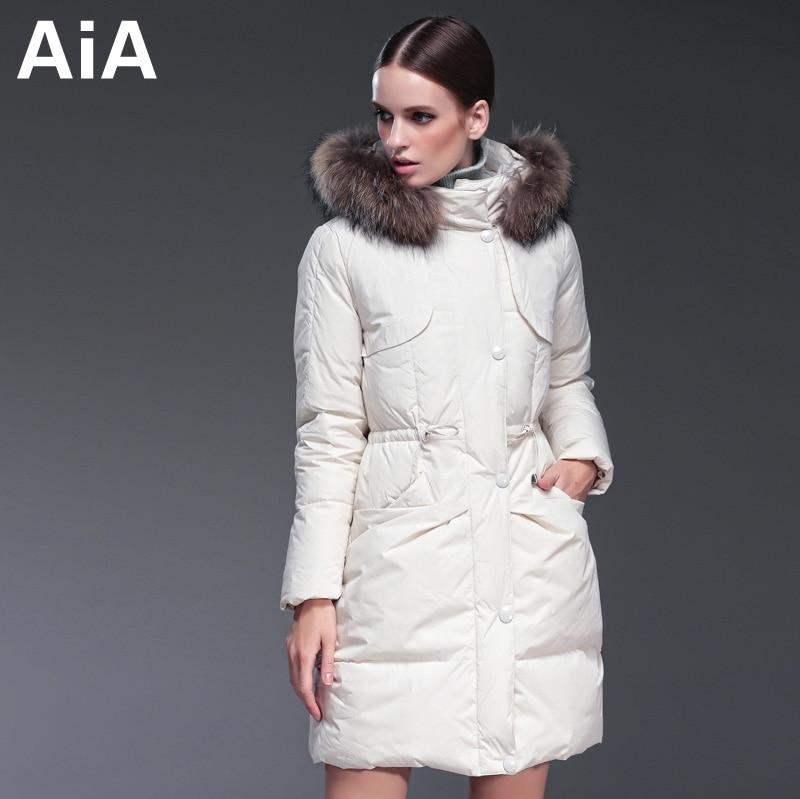 2016 new hot winter Thicken Warm woman Down jacket Coat Parkas Outerwear Hooded Raccoon Fur collar Slim long plus size Luxury
