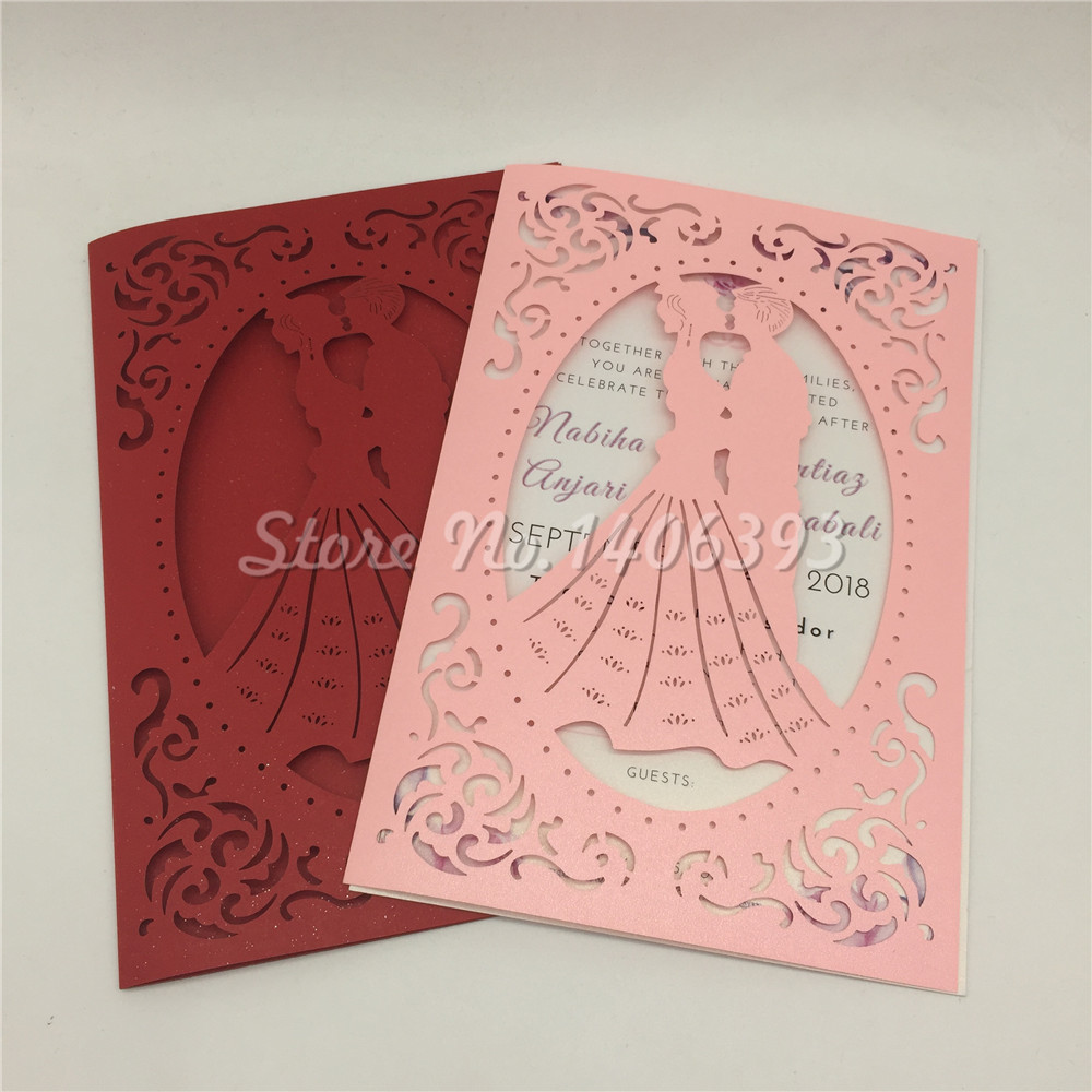 Aliexpress.com : Buy 30pcs/lot Bride and Groom Wedding Invitation ...