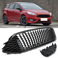 Front Radiator Centre Grille Panel For Ford For Focus Mk3 ST Line Radiator Grill Bumper Honeycomb Mesh Cover Moulding Part