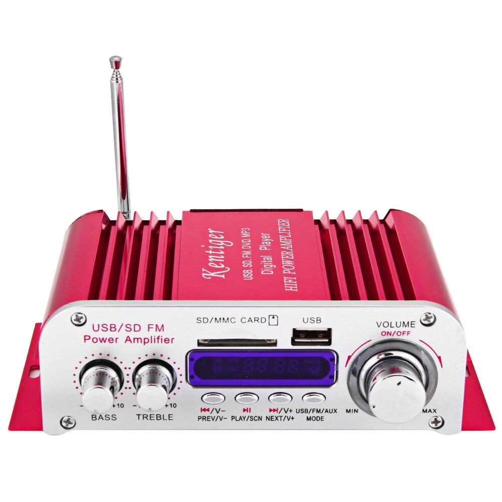Hi-fi Digital Auto Car Stereo Amplificatore di Potenza LED Modalità Audio Audio Giocatore di Musica di Sostegno USB MP3 DVD SD MMC FM