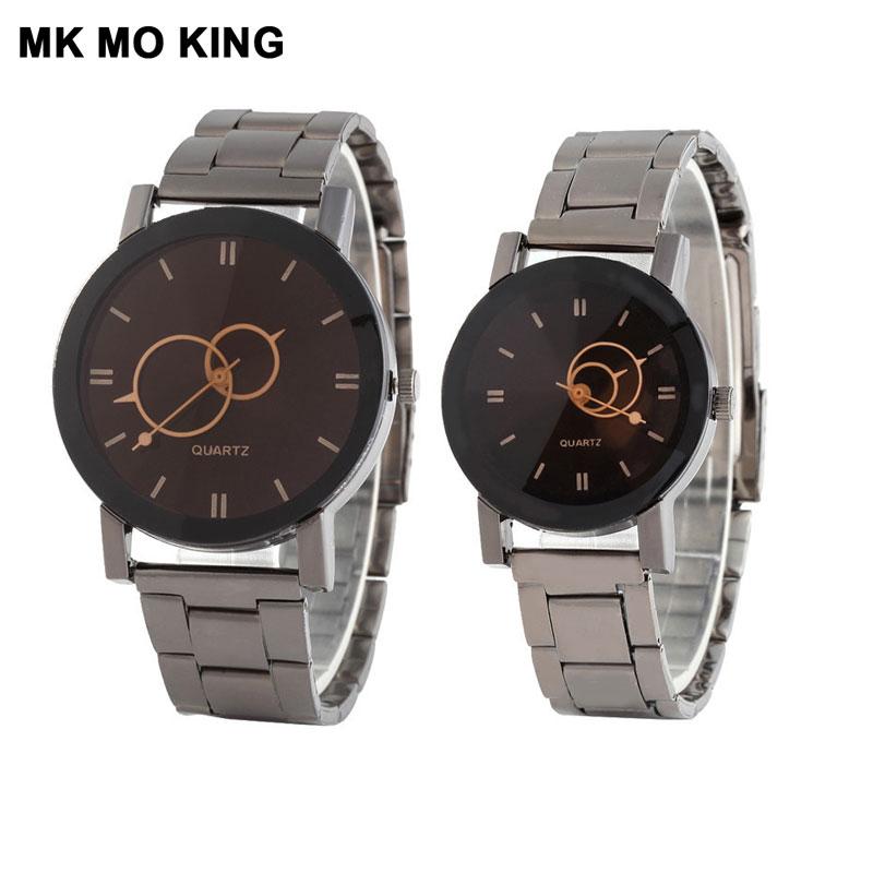 Korean Couple Watch Fashion Stainless Steel Men's And Women's Clock Ladies Festival Luxury Brand Wrist Watch Bracelet Dw Reloj