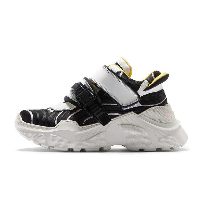 Genuino Mujer Plataforma Para Nueva De Mujeres Zapatillas Suela Estilo Con Cuero Deporte Altura Igu Zapatos Real Gruesa Negro Harajuku Las XRw1UCqXx