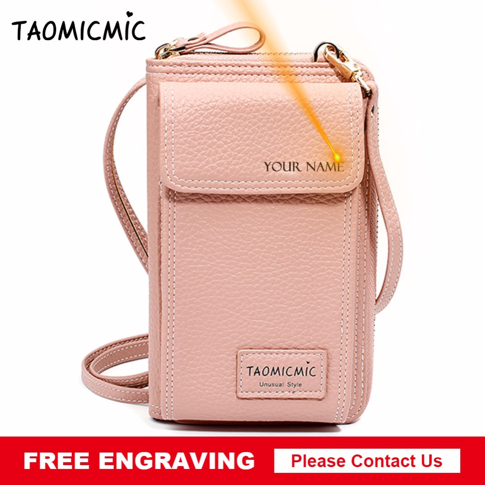 Taomicmic New Women Wallet Female Long Leather Purse Hasp Purses With Strap Phone Card Holders Big Capacity Ladies Wallets