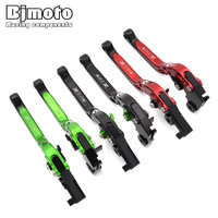Bjmoto For Kawasaki Z750 2004 2014 Motorcycle Brake Adjustable Folding Bike Extensible CNC Clutch Levers With