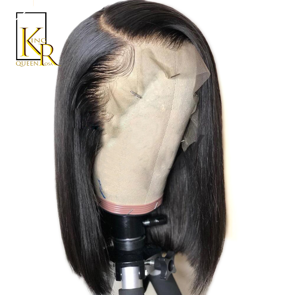 BOB Wig 13 4Lace Front Human Hair Wigs For Black Women Straight lace Wig Brazilian Remy
