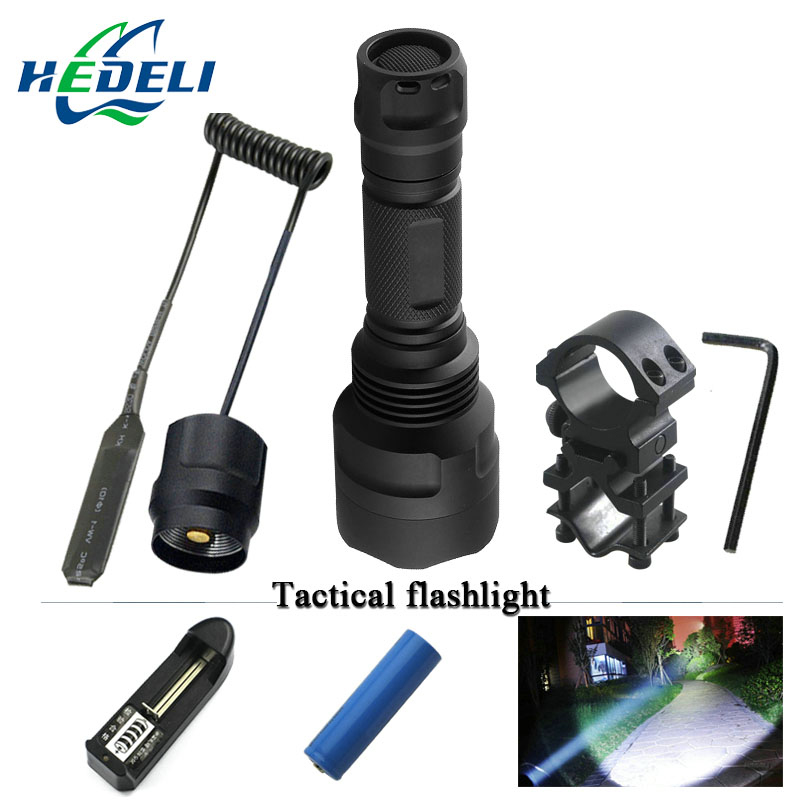 1 or 5 mode spotlight hunting xml t6 flashlight Tactical l2 flashlight 18650 charge waterproof torch Bicycle Light lampe torche