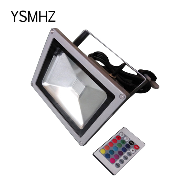 YSMHZ 10W RGB LED FloodLight Colorful Remote Control Outdoor Waterproof Floodlights Outdoor Full Color Lighting Lamp