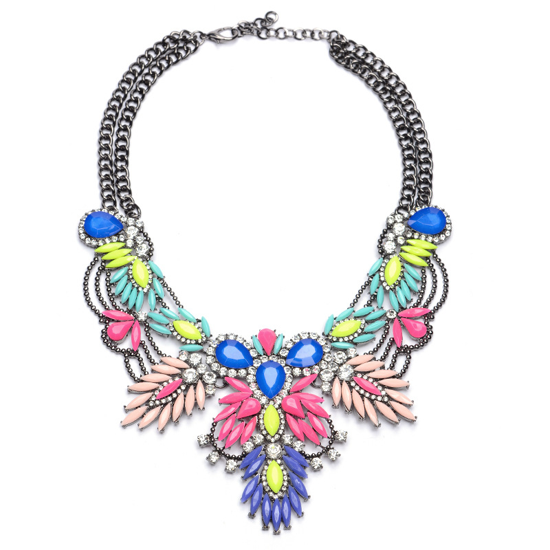 New Women Fashion Bijoux Colorful Acrylic Beads St...