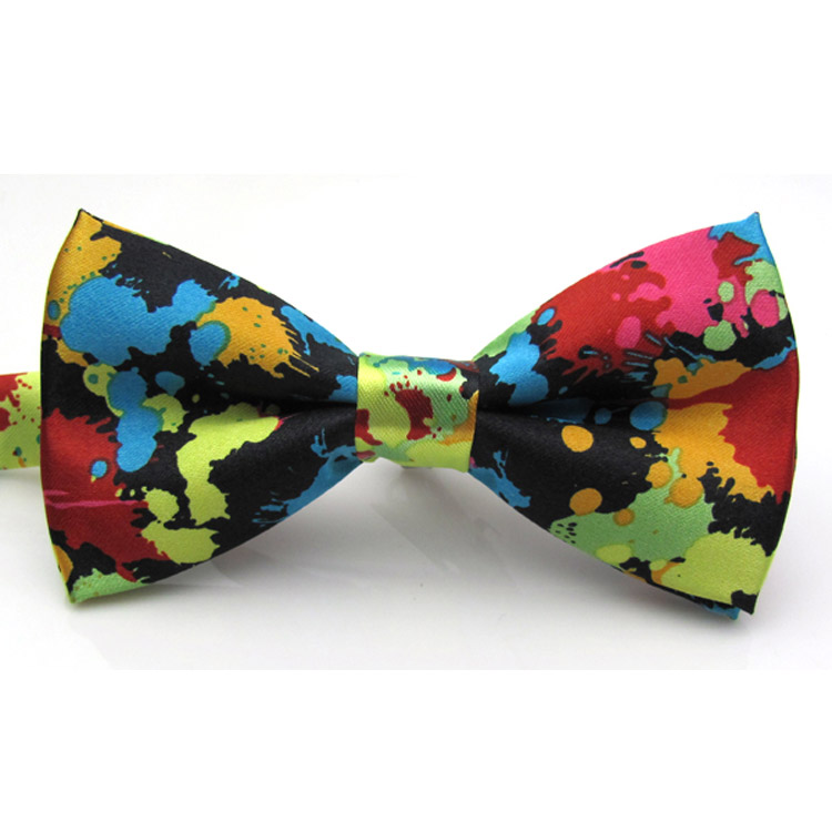Essentials Charming Adjustable Colorful Butterfly Printing Men Bow Ties Wedding Party
