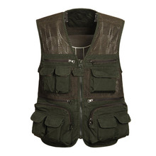 Gift for Father Hyweacvar Men's Multi Functional Multi-Pocket Working Filming Photographer Breathable Camouflage Vest