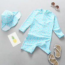 Baby Girls Swimsuit Swimwear for Kids UV Prodection UPF50+ One Piece Swimsuits+cap Surfing Clothes Summer Bebes Bathing Suit
