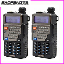 PTT Bao Feng Pofung Uv 5re Walkie Talkie 2pcs วิทยุ Baofeng สำหรับ Talky Walky 2 Way วิทยุเครื่องสแกนเนอร์ Ham Baofeng Uv 5re 5w