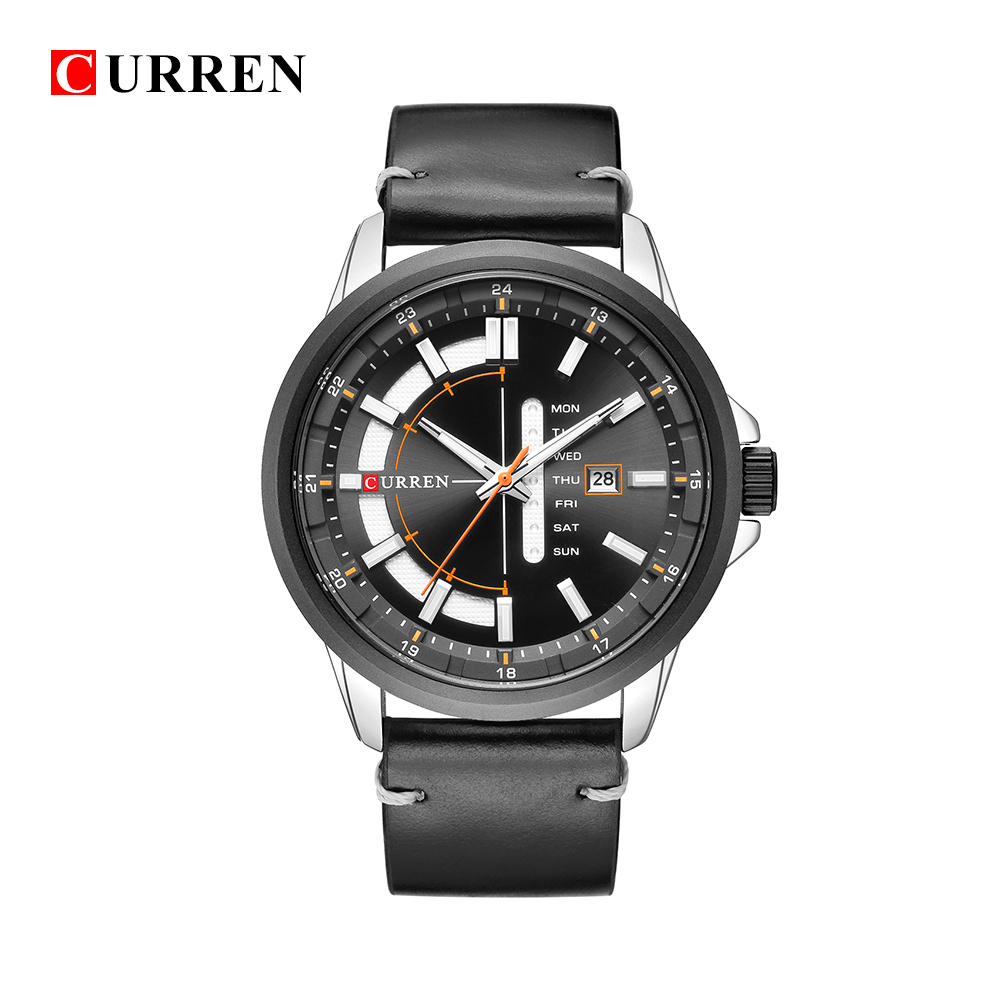 CURREN 8307 relogio masculino CURREN Watch Men Military Quartz Watch Mens Watches Top Brand Luxury Leather Sports Wristwatch oulm mens designer watches luxury watch male quartz watch 3 small dials leather strap wristwatch relogio masculino