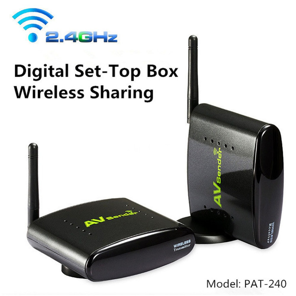 ФОТО PAT-240 2.4G Audio and Video Transmitter and Receiver with IR Remoter Wireless AV Sender with EU US UK AU plug PAT - 240 PAT240