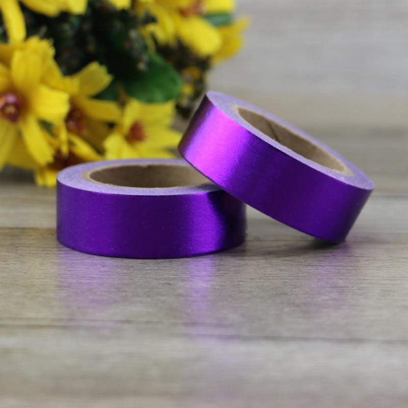 New Solid Purple Foil Washi Tape Quality Stationery Diy Tools Kawaii Scrapbook Paper Christmas Decoration Washi Tape
