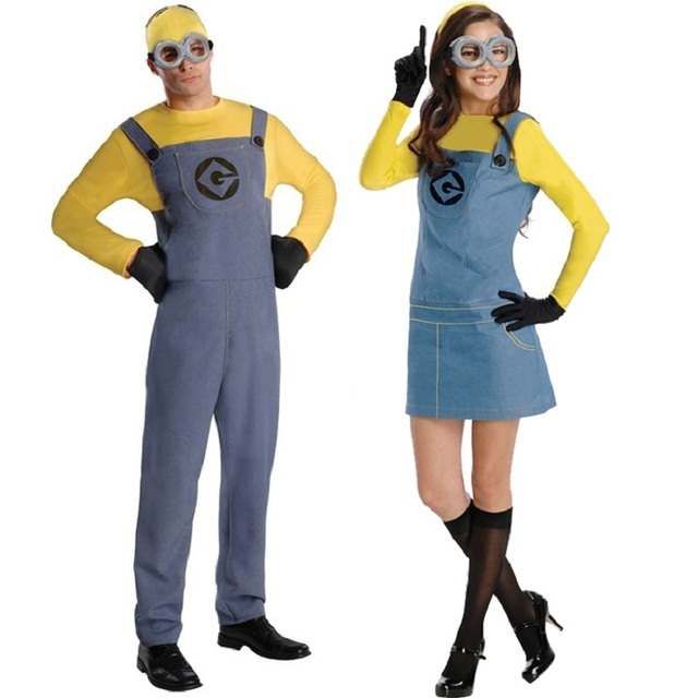 Minions Halloween Costume.Us 33 24 Despicable Me Cosplay Uniforms Minions T Shirt Tops And Rompers Women Set Mary Halloween Costumes For Women Men In Game Costumes From