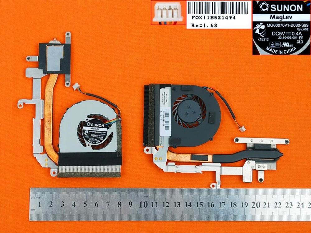New Laptop Cooling Fan For Lenovo For IdeaPad S205(Fan + Heatsink) PN:60.4JB09.003 MG60070V1-B080-S99