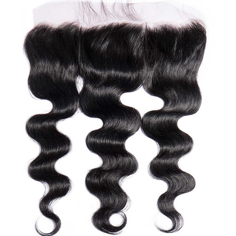 """Прозрачное Кружевное лобовое закрытие бразильские волнистые волосы естественного цвета не Реми 13 """"x4"""" предварительно выщипанные волосы с человеком Хай"""