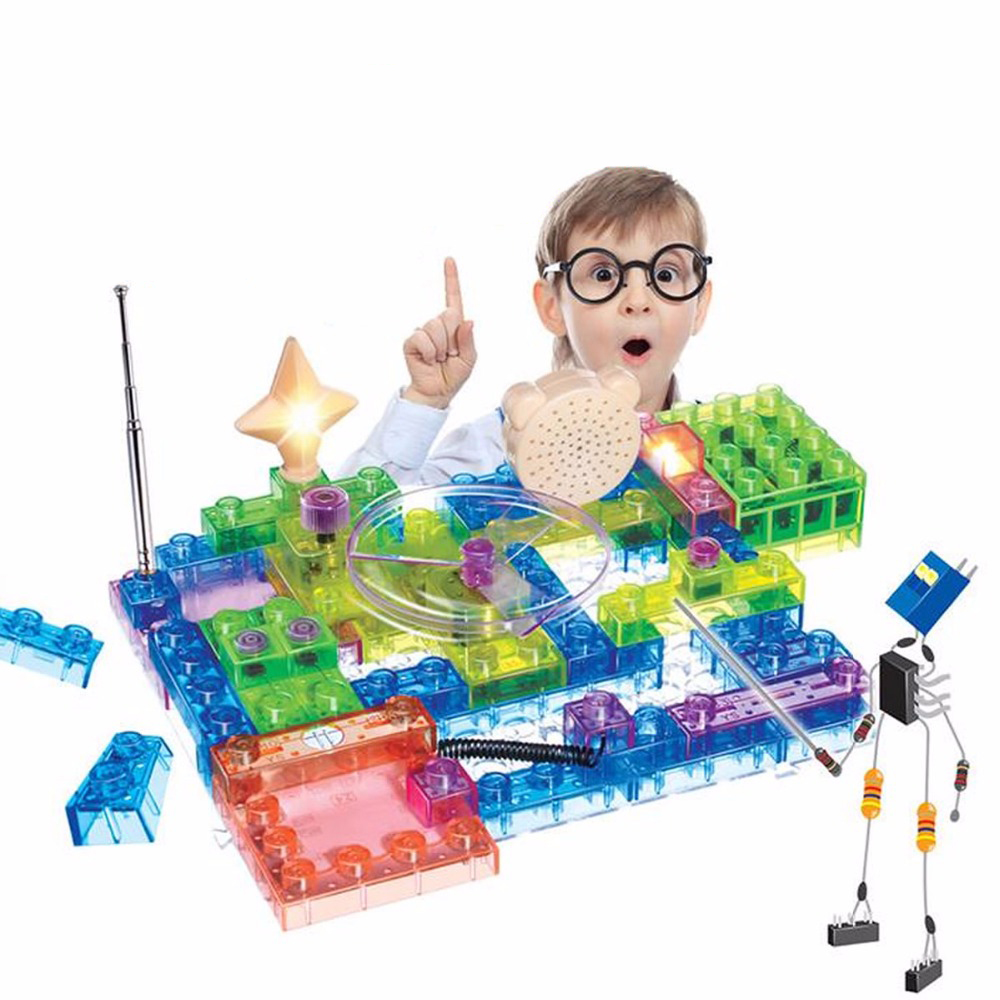Toys For Children Integrated Circuit Building Block Electronic Component Learning Educational Blocks Compatible with Legoe Duplo