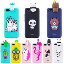Capa de celular para xiaomi redmi 5a, capa 3d de unicórnio, para modelos xiaomi redmi 5a, 6a, 4x, 7a capas de celular de silicone macio de brinquedo