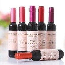 Wine Bottle Shaped Waterproof Lip Tints 6 pcs Set