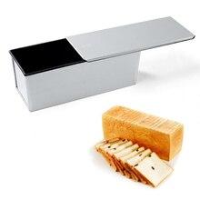 600 г 750 г 850 г 900 г 1000 г 1200 г 1500 г Антипригарное алюминиевые форма для выпечки хлеба тефлоновым покрытием с крышкой/перфорированной крышкой жестяной коробке