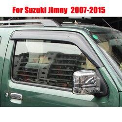 Per Suzuki Jimny Car Window Visor Vento Deflettore Pioggia Griglie di Sun Visor Shield Copertura ABS Tende Da Sole Rifugi della copertura Accessori Auto 2007 -2015