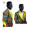 Mens Ropa Africana Ankara Modas de Los Hombres Blazer Slim Fit Causal Dashiki Blazers Hombres Chaquetas de Manga Larga para Los Hombres 6XL BRW WYN248