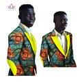 Mens Vestuário Africano Ancara Modas Homens Blazer Slim Fit Causal BRW Dashiki Blazers Homens Casacos de Manga Longa para Homens 6XL WYN248