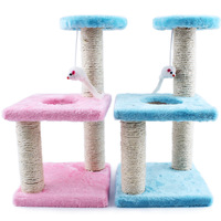 Creative Pet Cat Three square plate scratcher rack Claws grinding Toy Pet Toy cat furniture For Cats Kittens 072204