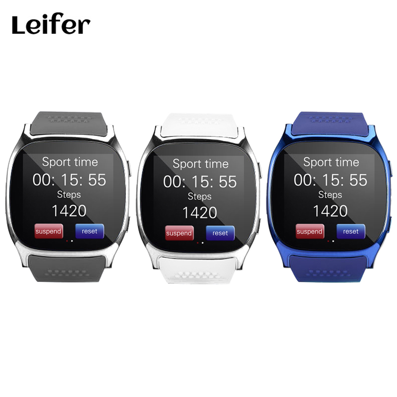 Leifer T8 Bluetooth Smartwatch Smart Watch Support SIM TFcard 2.0MP Camery Bluetooth Connection Sync Notifier For Android IOS