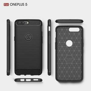 For Oneplus 5 Case Full Cover Protective Shockproof Carbon Fiber Case for Oneplus 5 A5000 Brushed Soft TPU shell Phone Case