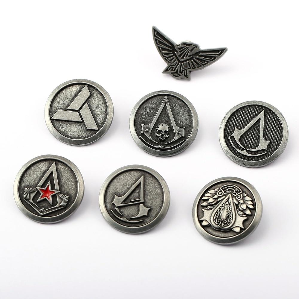 Assassins Creed symbol pins / badges | Assassins creed