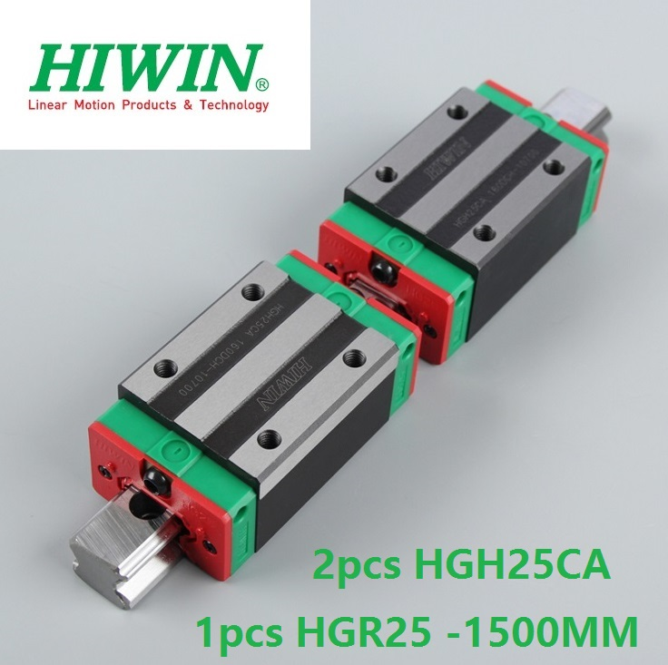 1pcs 100% original Hiwin linear guide linear rail HGR25 -L 1500mm + 2pcs HGH25CA linear narrow block for cnc router hiwin taiwan made 2pcs hgr25 l 600 mm linear guide rail with 4pcs hgh25ca or hgw25ca narrow sliding block cnc part