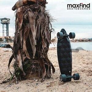 Image 3 - Maxfind لوح التزلج الكهربائي المزود بأربع عجلات ماكس 2 ، لاسلكية تحكم عن بعد الكهربائية لوح التزلج Longboard Hoverboard الدراجة الاحادية