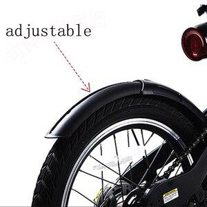 Image 4 - Nuovo Aggiornamento 3rd Generazione Originale Della Bici Parafango e Cavalletto per Xiaomi Qicycle EF1 Bici Elettrica Pneumatico Splash Parafango Supporto