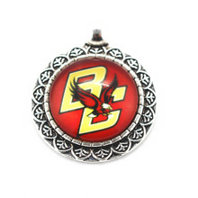 Buy college pendants and get free shipping on aliexpress new style 10pcslot boston college eagles ncaa sports team dangle charms alloy glass pendant mozeypictures Image collections