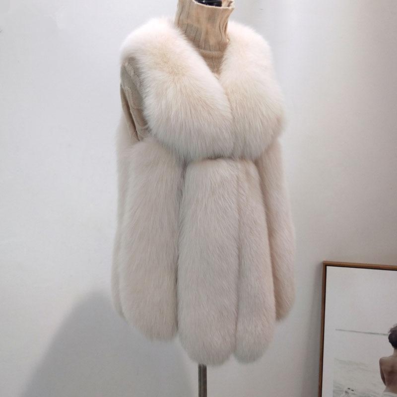 Renard Femmes Hiver Femme Vêtements Gilet gray Yellow Lake Mince Fourrure 2018 De Sans Zl685 Blue Réel Manteau Vintage Manches Veste Mode light D'hiver xXCwEaZnqn