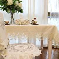 WINLIFE Tắt Trắng Ren Khăn Trải Bàn Vintage Floral Bàn Ăn Tập Bàn Hiện Đại Trang Trí