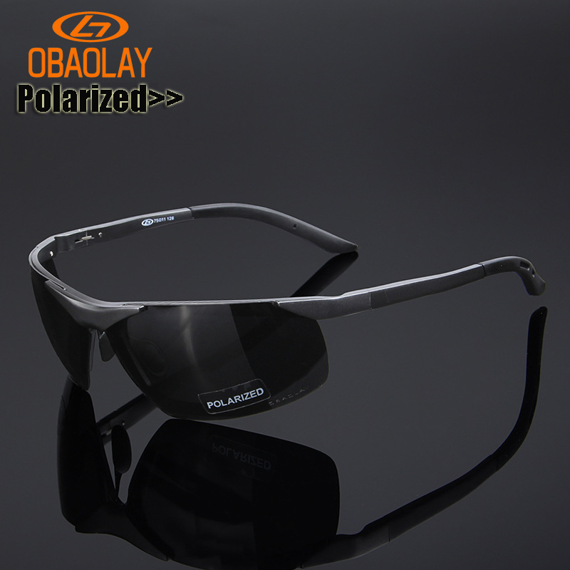 OBAOLAY Authentic Polarized Sunglasses Aluminum Magnesium Cycling Glasses Outdoor Cycling eyewear Fishing Driving Sun Glasses veithdia brand fashion unisex sun glasses polarized coating mirror driving sunglasses oculos male eyewear for men women 3360