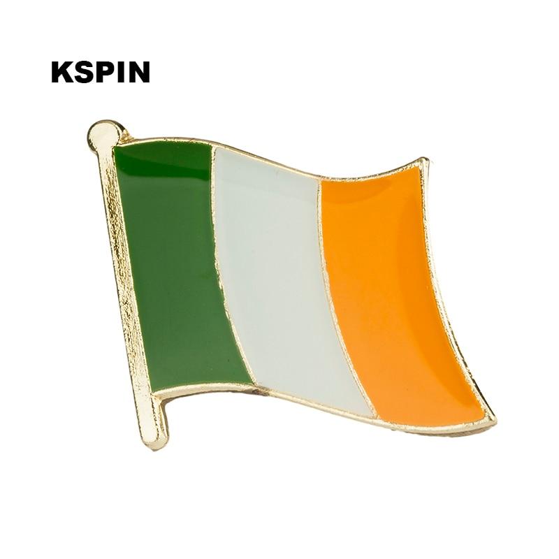 Ireland flag badge pin lapel pin 100pcs a lot Brooch Icons KS 0012