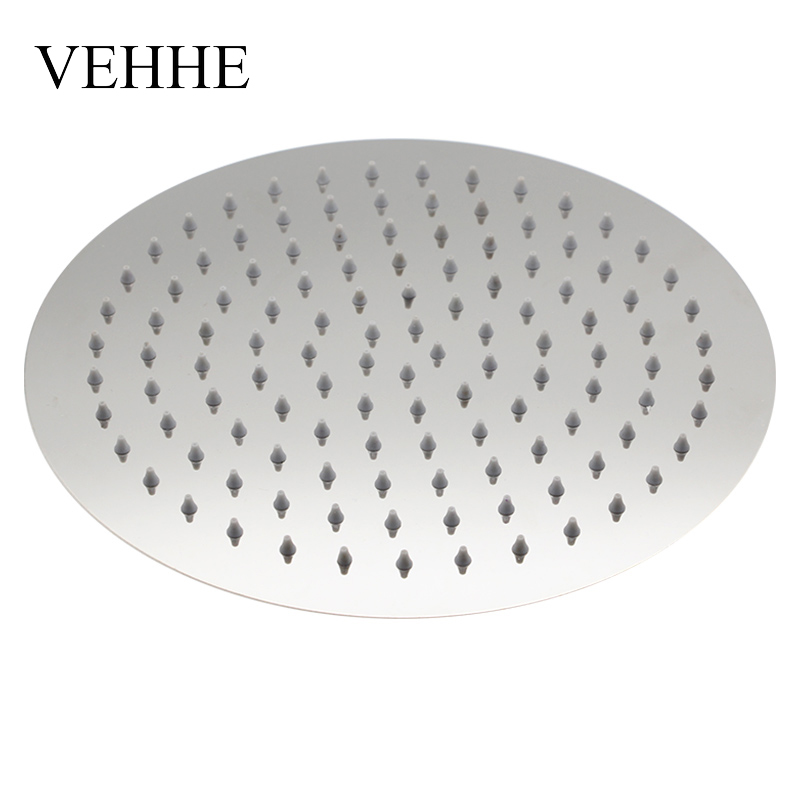 VEHHE Super Big 10 Inch Stainless Steel Ultra Thin Ceiling Rain Shower Bathroom Rainfall Shower Head Nozzle Shower Heads