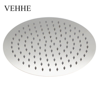 VEHHE Super Big 10 Inch Stainless Steel Ultra Thin Ceiling Rain Shower Bathroom Rainfall Shower Head Nozzle Shower Heads