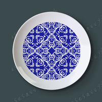 8 Blue And White Creative Dish Of Ceramic Dish Plate Hanging Wall Hangings Western Dessert Dish