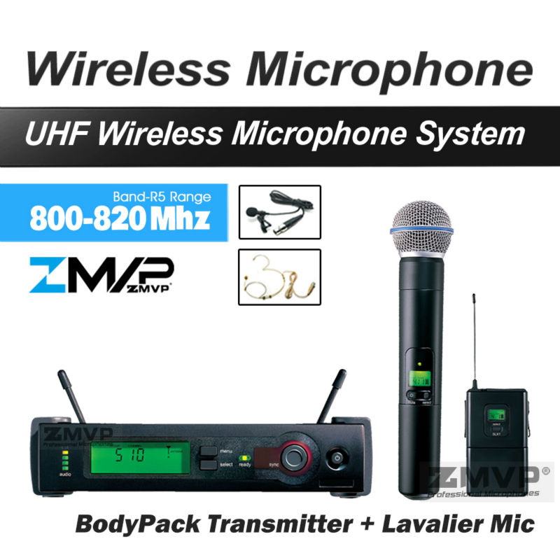 Free Shipping UHF BX14 24 Wireless Microphone Karaoke With BodyPack Handheld Transmitter Microfone Headset Lavalier Tie Clip Mic free shipping pgx pgx24 beta58 uhf karaoke wireless microphone system with super cardioid beta handheld microfone microfono mic