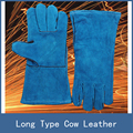 7 Цветов Новые Стрейч Длинные Тип Противоизносные Кожа Коровы Безопасности Защитные Перчатки для Сварочных Работ для Создания Сайта Сварщик Паяльная