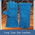 7 Cores Mais Novo Estiramento Longo Tipo Antidesgaste Vaca Couro Soldagem Luvas de Trabalho de Proteção de Segurança para a Construção Local Soldador De Solda